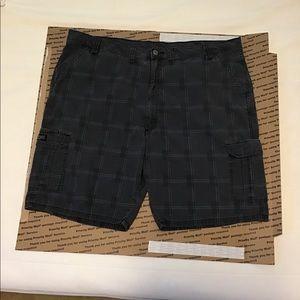 Mens wrangler gray plaid shorts sz 46